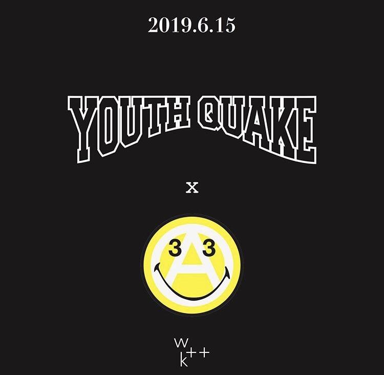 6月15日発売 YouthQuake × Verdy コラボTシャツ
