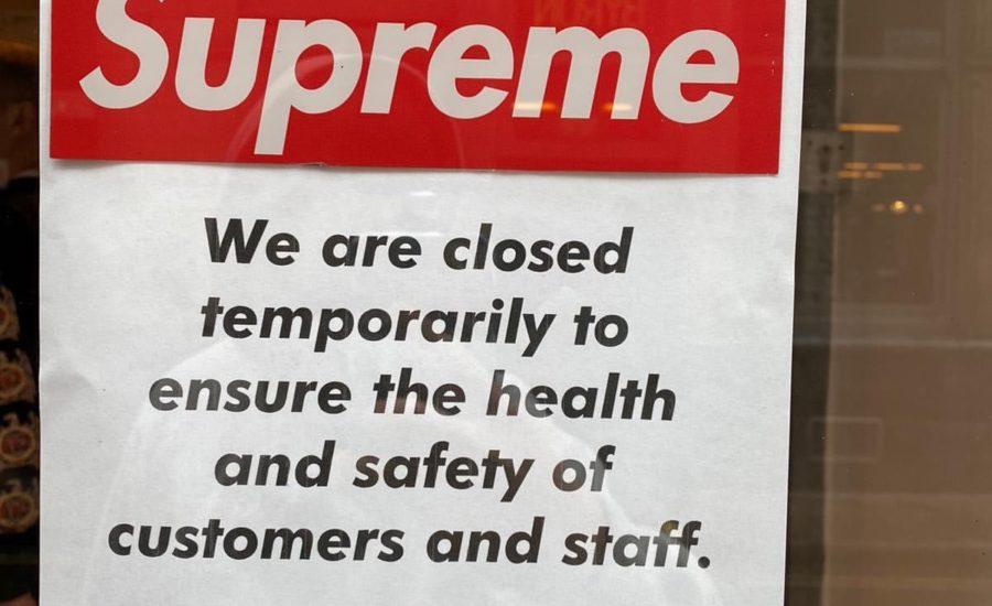 【Supreme】パリ、ロンドンにある店舗コロナの影響で一時的に閉店